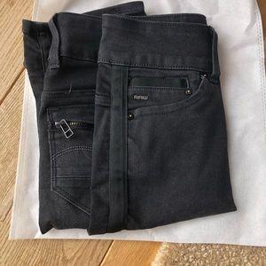 Fabulous black denim midlength Jean skirt